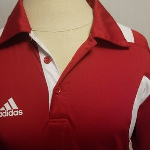 adidas Shirts - adidas scorch mens s polo red white climacool